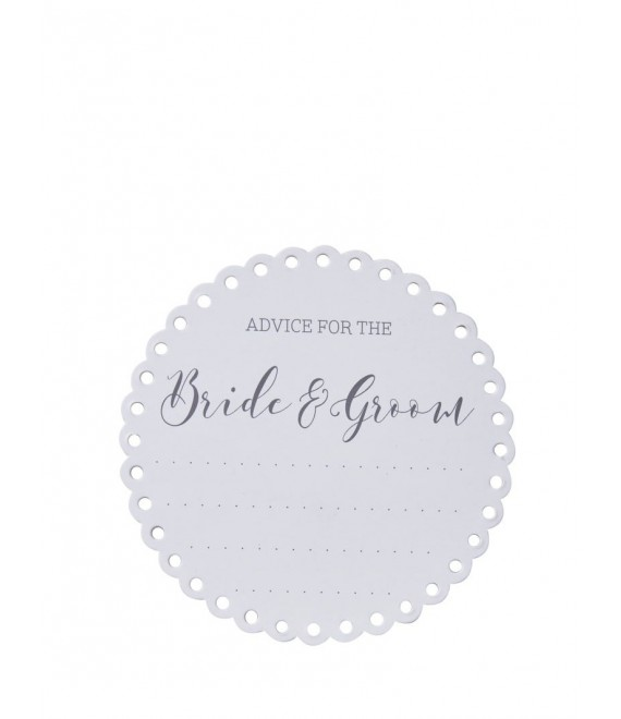 Advice For The Bride & Groom Coasters 2 - The BeautifulBrideShop