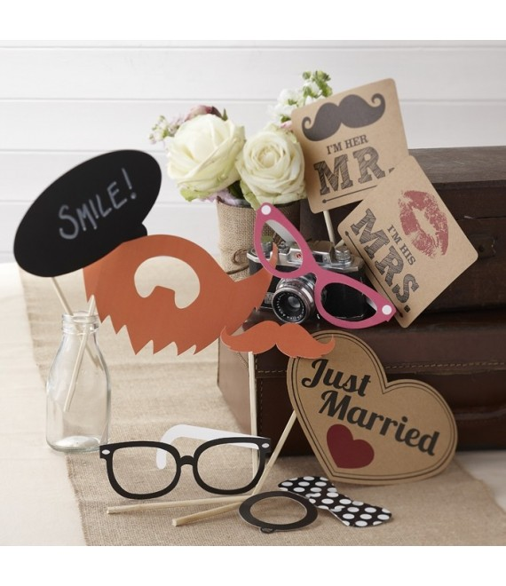 Photo Booth Props Kit Vintage Affair - The Beautiful Bride Shop
