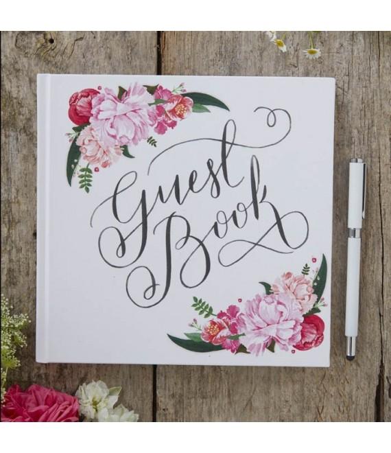 Bloemen gastenboek Boho BH-722 - The Beautiful Bride Shop