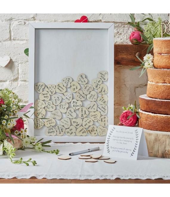 Hartjes lijst gastenboek Boho - The Beautiful Bride Shop