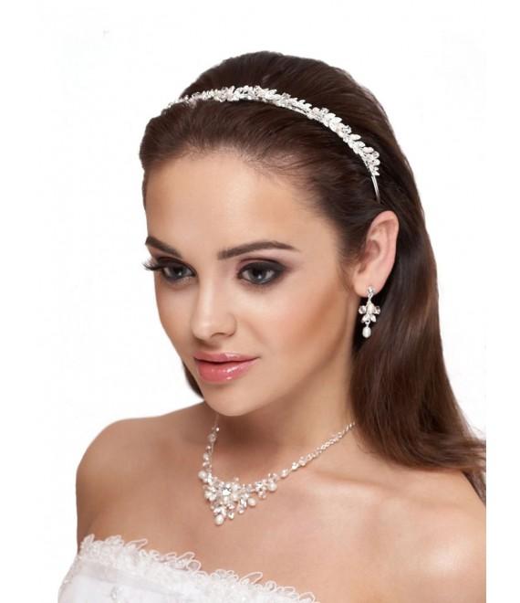 Tiara, ketting en oorbellen D36-N25 - The Beautiful Bride Shop