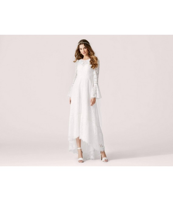 LILLY (08-9761-CR) - Kanten trouwjurk voorzijde - The Beautiful Bride Shop