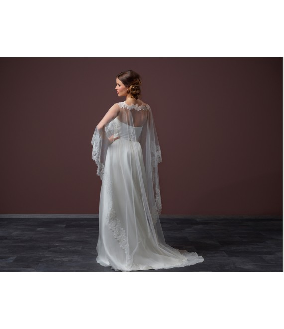 Soft tulle Cape C90-200_1 Poirier - The Beautiful Bride Shop