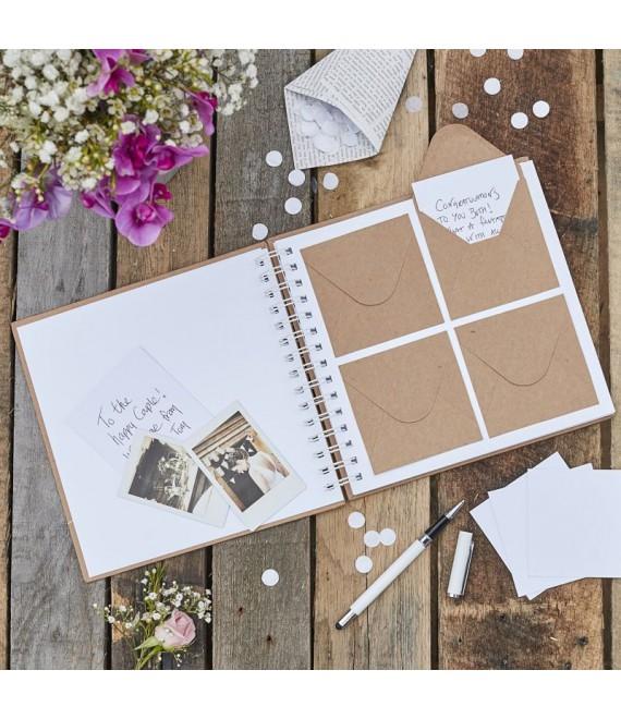 Gastenboek met envelopjes | Rustic Country