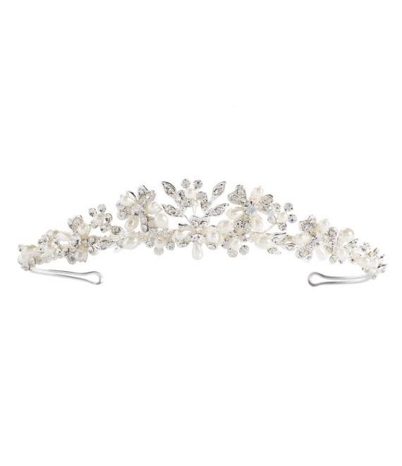 Diadeem Lilly 03-375-SV-0 - The Beautiful Bride Shop