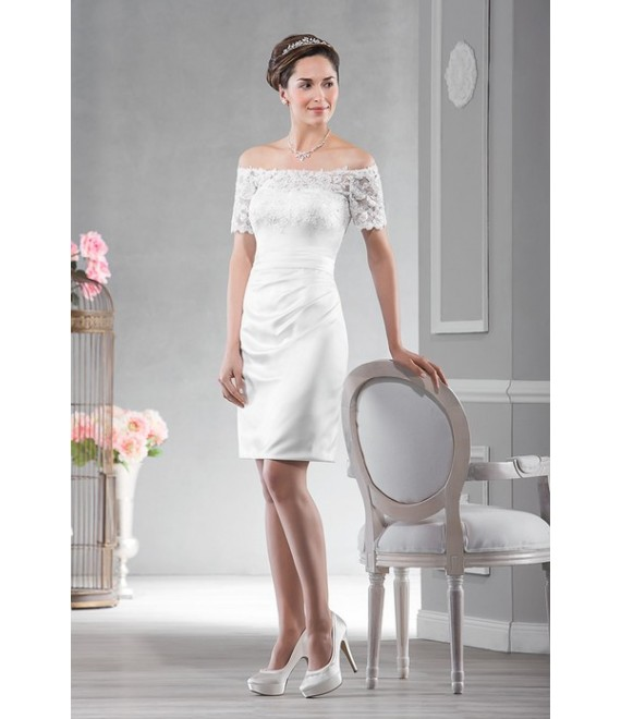 emmerling-Korte trouwjurk met kant (15017) - The Beautiful Bride Shop