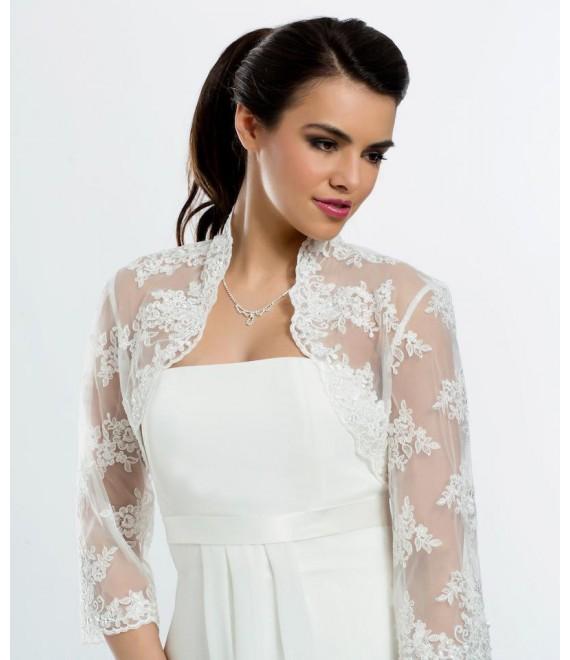 Bianco Evento Bolero E106 - The Beautiful Bride Shop