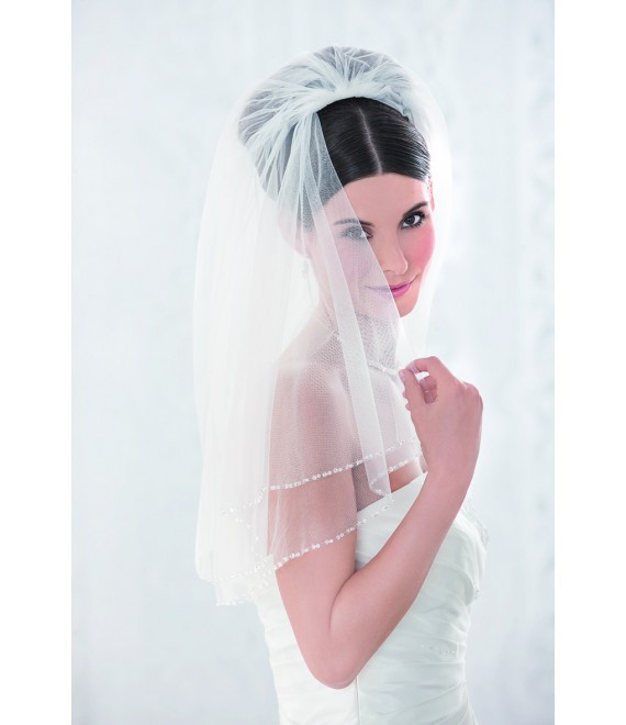 Emmerling Veil 10086-Ivory-2-laags-100 cm