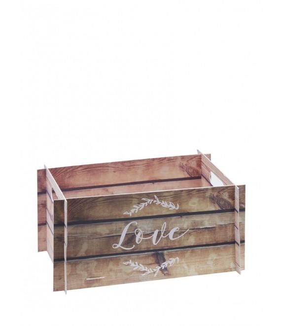 Wooden Effect Card Crate - Beautiful Botanics