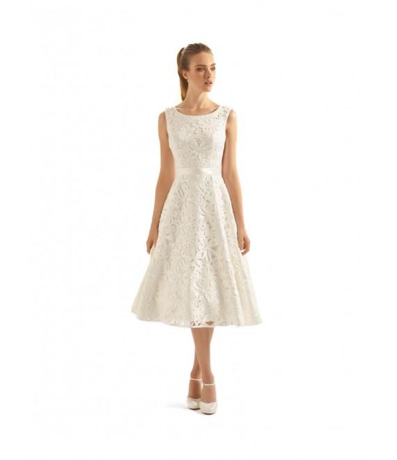 Korte bruidsjurk Aperta 3 | Bianco Evento