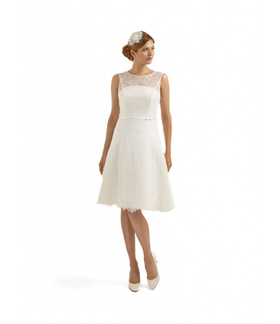 Korte vintage trouwjurk Calendula- The Beautiful Bride Shop
