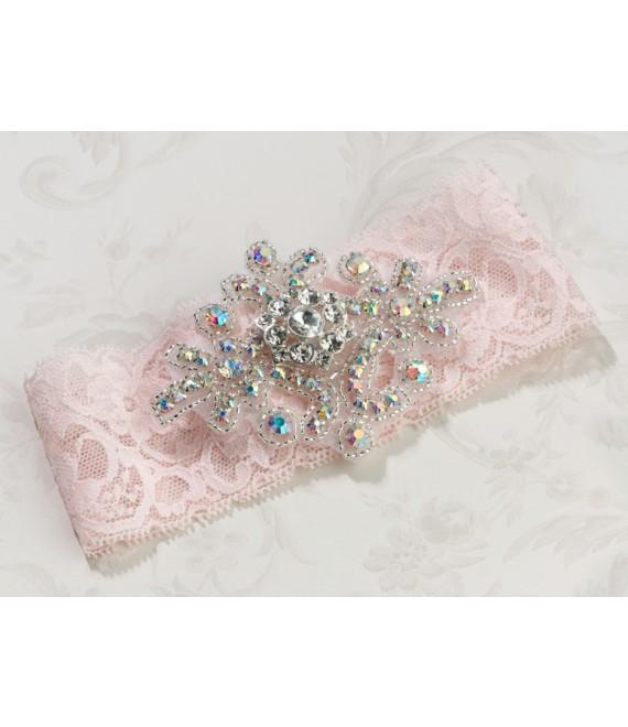 Lichtrose kousenband van kant Lillian Rose LG430PI - The Beautiful Bride Shop