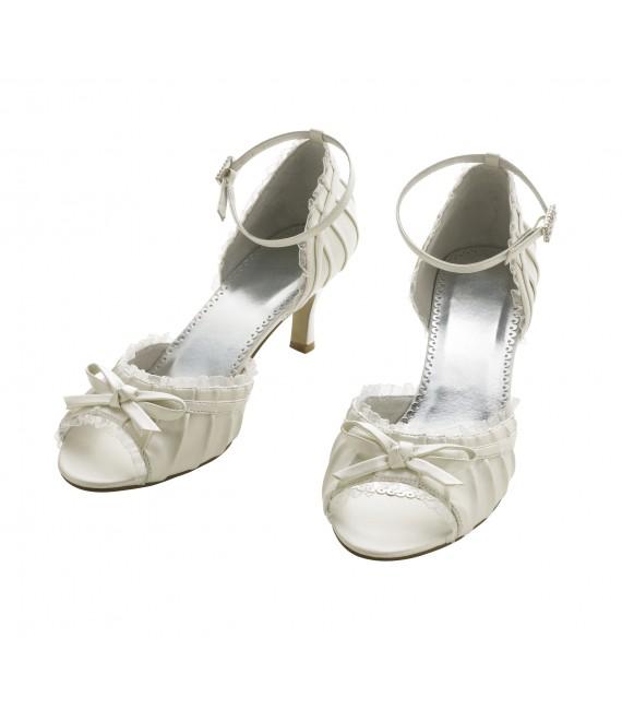 Lilly bruidsschoenen (07-1965-CR) - The Beautiful Bride Shop