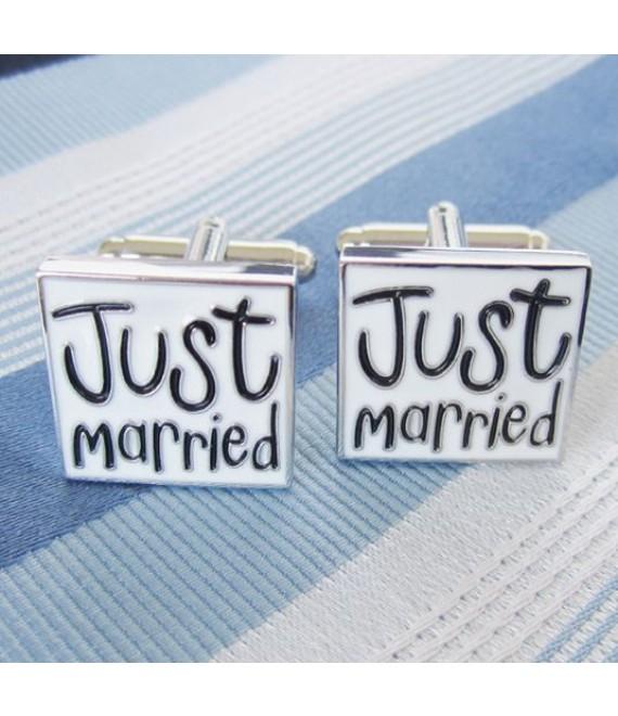 Manchetknopen Just married - The Beautifil Bride Shop