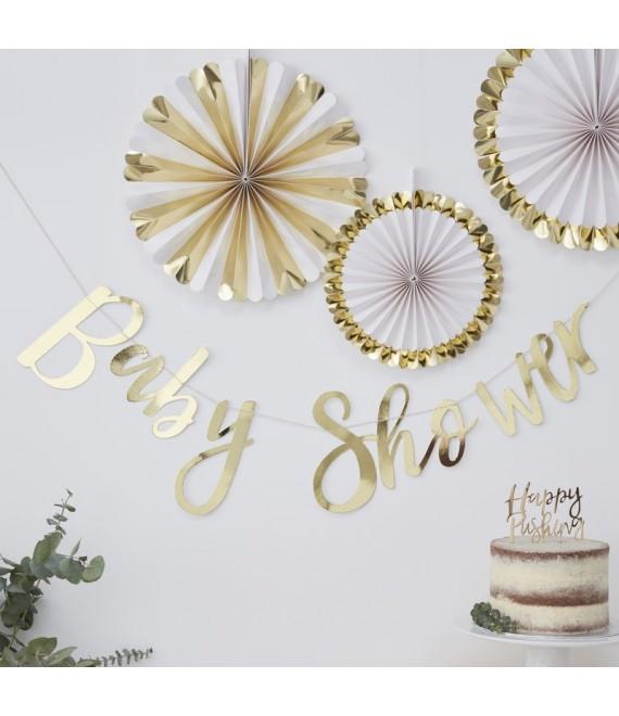 Gouden Baby Shower Slinger  | Oh Baby!