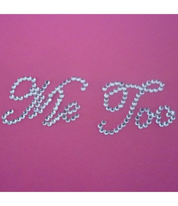 Me Too Bridal shoe stickers crystel - The Beautiful Bride Shop