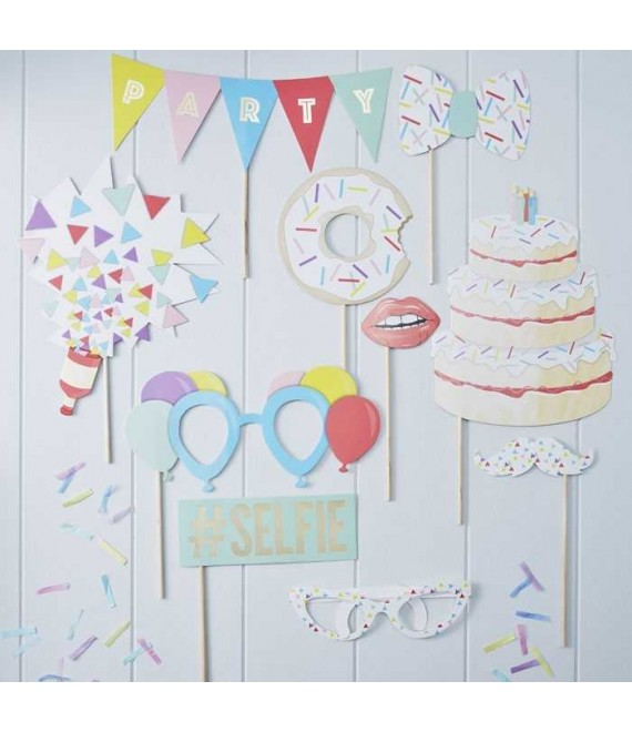 Photo Booth Party Props Pick And Mix - The Beautifulbrideshop