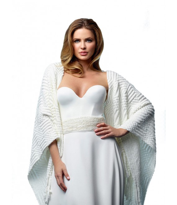 Knitted Bridal Stole S162 Poirier - The Beautiful Bride Shop 2