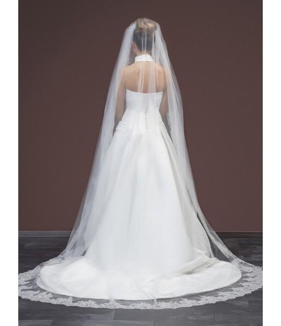 Sluier met fijne kanten S248  - The Beautiful Bride Shop