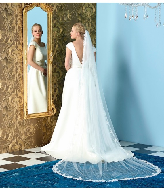 Sluier met fijne kanten S248  - The Beautiful Bride Shop