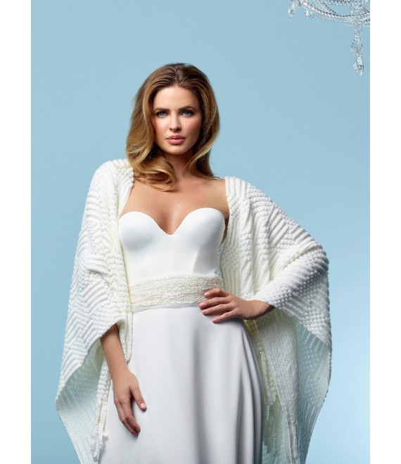 Gebreide stola Stole S162 Poirier - The Beautiful Bride Shop 1