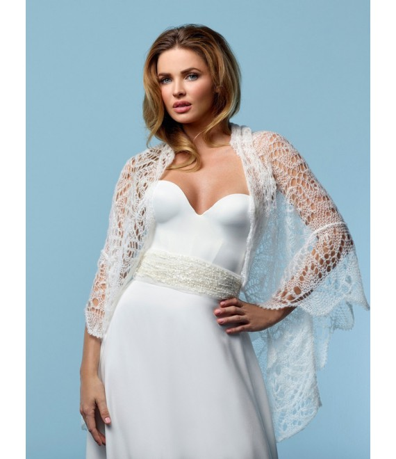 Stola van mohair 1 Poirier - The Beautiful Bride Shop