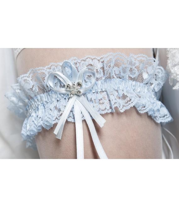 Kousenband blauw - The Beautiful Bride Shop