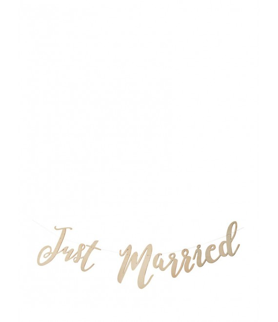 Wooden Just Married Script Bunting - The Beautiful Bride Shop
