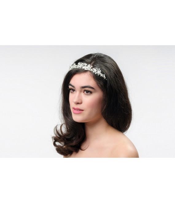 Witte kousenband set met kirstallen LG530W - The Beautiful Bride Shop