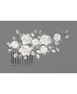 Prachtige haarkam met bloemen 0292