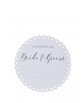 Onderzetters Advice for the Bride & Groom (20st) - Beautiful Botanics