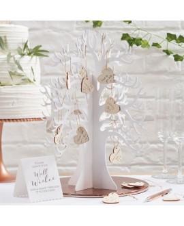Houten wensboom met hartjes - BEAUTIFUL BOTANICS