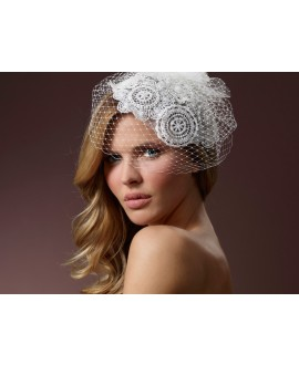 Fascinator met kant BB-386 Poirier