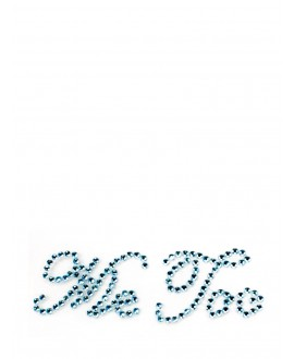 Me Too shoe sticker - Blauw