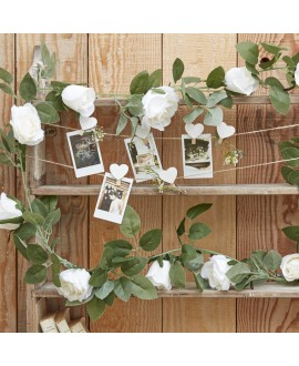 Decoratieve witte rozen slinger | Rustic Country