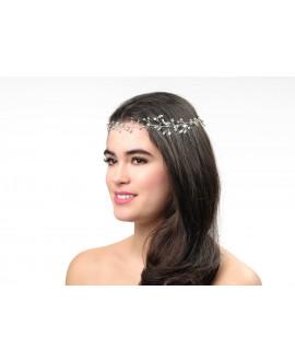 Poirier Haarband Bruid BB-658 Zilver