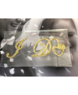 I DO bridal schoensticker goud