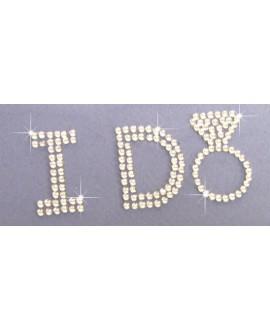 Crystal Block I DO bridal shoe sticker