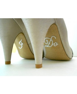Crystal I DO bridal shoe sticker