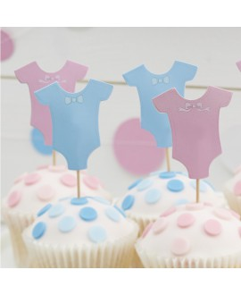 Cupcake Prikkers Jongen of Meisje | Little Lady or Mini Mister