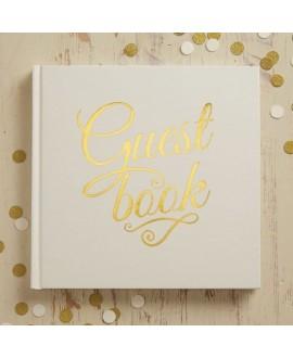 Gastenboek Metallic Ivoor-Goud