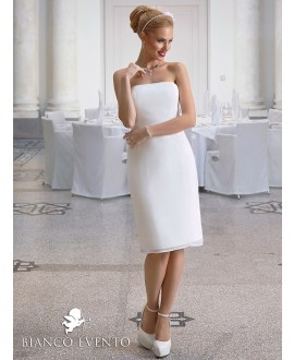 Korte strapless trouwjurk Ortensia, Bianco Evento