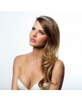 Stylish Crystal Tiara BB-790 | Poirier