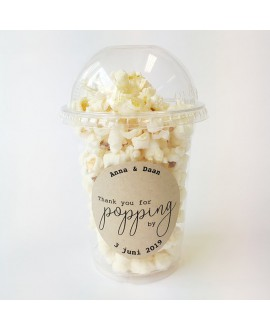 Popcorn Beker - sierlijk