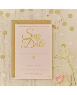 Save The Date Kaarten - Pastel Perfection (10st)