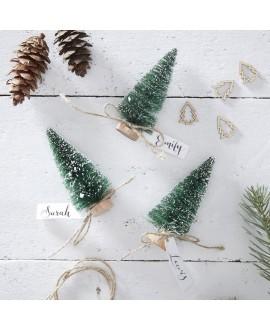 Plaatskaarthouders Kerstbomen | Rustic Christmas