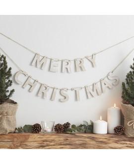 Houten slinger Merry Christmas | Rustic Christmas