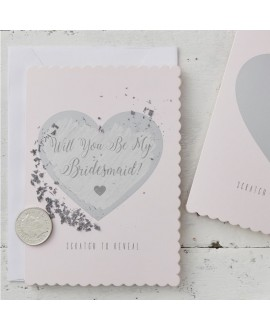 """Will You Be My Bridesmaid?""  - Kraskaart (5st)"