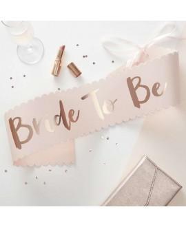 Roze-roségouden sjerp voor de bride to be -Team Bride