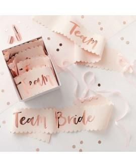 Roze-roségouden Team bride sjerpen (6st)